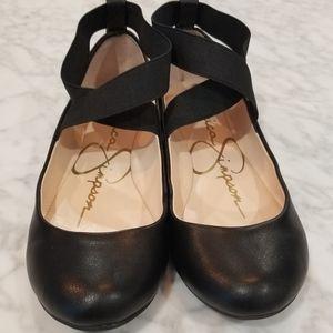 Jessica Simpson cross ankle ballet flat